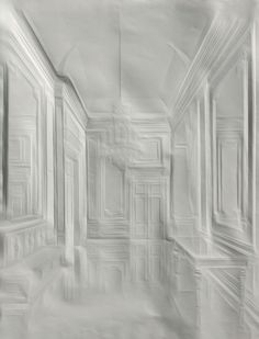 Cologne artist Simon Schubert creates intricate images of stately homes and palaces simply by folding plain white sheets of paper.