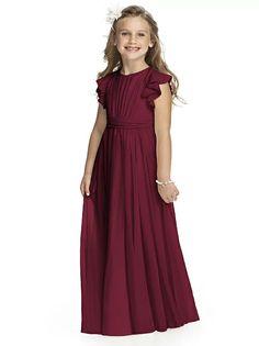 Flower Girl Dress FL4038 http://www.dessy.com/dresses/bridesmaid/fl4038/?color=burgundy&colorid=8#.Vivz4rerSUk
