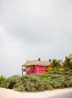 tulum, mexico...I want this pink beach shack to be my forever