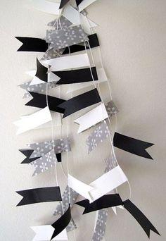 Hoy me gusta: Guirnaldas de washi tape, cintas adhesivas decorativas japonesas : Baby-Deco