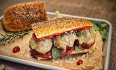 Italian+Meatball+Sandwich Sandwiches, Italian Meatballs, Grilling, Foodies, Italian Cheese, Food Portions, Food Food, Crickets, Paninis
