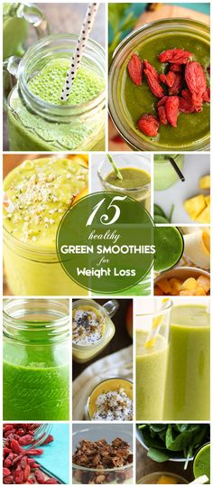15 Healthy Green Smoothies to Lose Weight - Click for Recipes