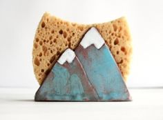 Mountain Sponge Holder-Napkin Holder-Ceramics And Pottery