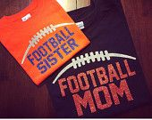 Football Mom, Sister, Dad, Brother Glitter T-Shirt