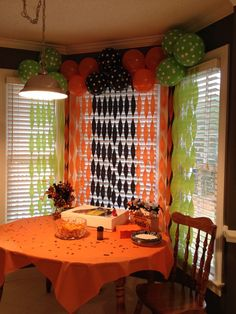 Halloween Party Balloon Backdrop