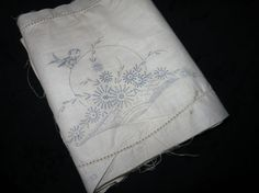 Vintage Vogart Bird and Flowers Tank Cover by saltsmansoap on Etsy