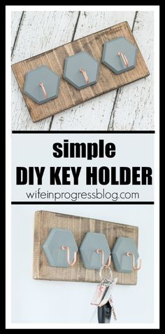 Check one more thing off your organization resolutions with this simple and cheap DIY key holder