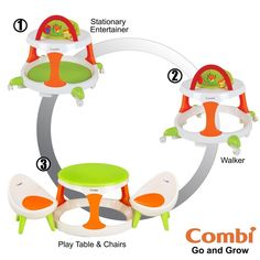 Go and Grow Baby Walker 3 in One Activity Table and Chairs Convertible Kids Toys #ConvertibleBabyWalkerActivityTableandChairs