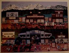 $30.00 Jennifer Lake Miller The Sisters #Oregon Signed Print Folk Art #FolkArt