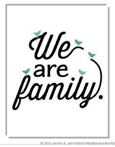 Nous sommes une famille Art. Salon sticker. par thedreamygiraffe, $20.00