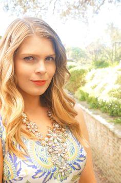 Blush & Bordeaux - Blue Crush. Bardot blazer, Kachel dress, Lucky Brand heels, Michael Kors crossbody, Lovisa necklace