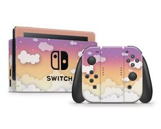 Sunset Clouds In The Sky Nintendo Switch Skin Gamer Console Nintendo Switch Accessories, Gaming Accessories, Switch Game Console, Video Game Console, Metroid, Team Rocket, Super Smash Bros, Digimon, Inuyasha