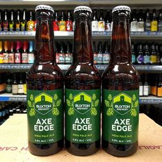 Returning beer. Axe Edge IPA from @buxtonbrewery back in stock. Super fresh - bottled 2 weeks ago!!