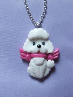 Nanetta the poodle by Libellulina #cute #necklace