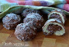 Biscottini al cioccolato con cuore alla nutella