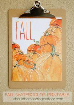 FREE Fall Watercolor Printables – Gluesticks