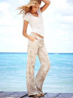 The Beach Pant in Linen - Victoria's Secret