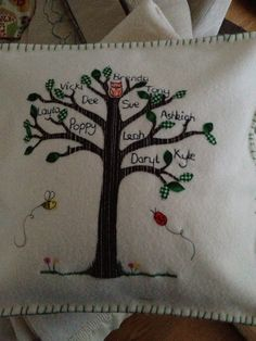 Family tree cushions