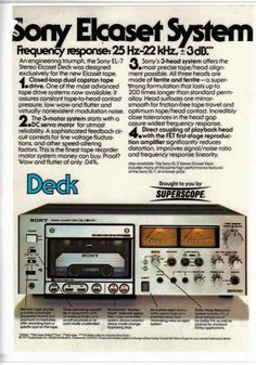 Vintage Hi-Fi Sony Elcaset tape deck (1977). I was quite high on these for a time. Quality of open reel; ease of cassettes. Except for the size. Oops!