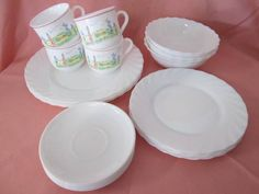 Arcopal Milk Glass Dinner Set. | Dinnerware | Gumtree Australia Caboolture Area - Morayfield | 1139345167