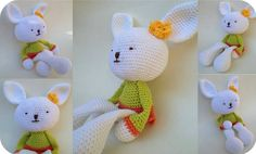 Amelia, the crochet bunny girl soft toy!