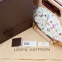 The ultimate gift: to own a beautiful stunning piece like this Louis Vuitton Multicolour Monogram Canvas Judy MM...