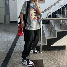 Streetwear Outfit Menswear Fashion Inspiration Hip Hop Outfits, Tomboy Outfits, Tomboy Fashion, Retro Outfits, Cute Casual Outfits, Streetwear Fashion, Fashion Outfits, Girl Streetwear, Boyish Outfits