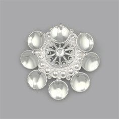Traditional Norwegian pin using low dome 1/2 beads