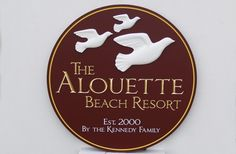 It wold be interesting to hear the story behind the name of this beach house sign, but the smooth sculpted birds fit the name well. Beach House Signs, Beach Resorts, Cnc, Signage, Carving, Design, Wood Carvings, Billboard, Sculpting