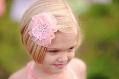 Lace Hair Clip for Girls  Pick from Pink Peach by DreamSpunKids