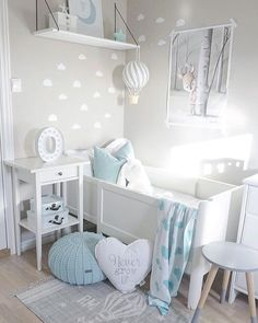 Inspiration from Instagram - light grey and blue nursery decor ideas - Interior || Kids || Baby (@baby_and_kidsroom_inspo) в Instagram: «Picture by: @interiorparadiset