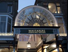 Exterior & interior lighting from Enlighten Design for Wayfarers Arcade, Southport  #lighting #southport #exterioirlighting