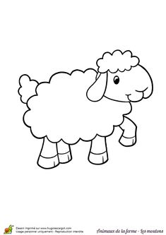 Dessin à colorier d'un joli mouton qui gambade Hand Embroidery, Machine Embroidery, Embroidery Designs, Free Printable Coloring Pages, Animals Images, Bottle Art, Digital Stamps, Colouring Pages, Coloring Pages For Kids