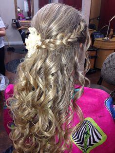 Elegant updo long hair