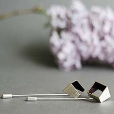 Square Pins No1 (Silver/Enamel) Silver Enamel, Cufflinks, Stud Earrings, Jewellery, Accessories, Jewels, Jewelry Shop, Studs, Schmuck