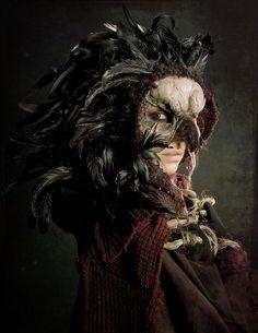 Bird Queen    Concept Artist/ Director- Dorian Cleavenger  Costume Designer - Christopher Patrick   Model/Actress/Mask/Photo editing - Cassandra Mélena