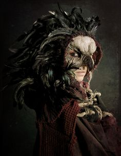 Bird Queen    Concept Artist/ Director- Dorian Cleavenger  Costume Designer - Christopher Patrick   Model/Actress/Mask/Photo editing - Cassandra Mélena