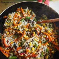 10 idei rapide pentru cina - Ama Nicolae Energy Bites, Food Design, Paella, Fried Rice, Food Art, Carne, Healthy Lifestyle, Bacon, Food And Drink