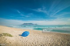 The Table Mountain from Big Bay beach | Western Cape, South Africa | #stockphotos #gettyimages #print #travel