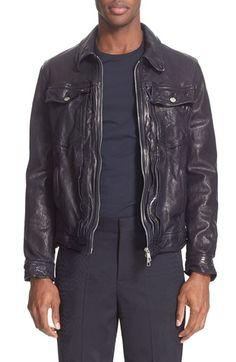Neil Barrett Washed Buffalo Leather Jacket