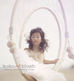 Dreamcatcher Swing by Koko Blush. Beautiful Model is wearing Tutu Du Monde for this amazing beach editorial photo shoot. www.kokoblush.com