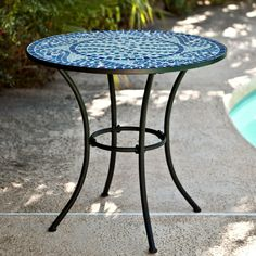 Coral Coast Marina Mosaic Bistro Table - Whether it's your outdoor dining area or kitchen corner, the Marina Mosaic Bistro Table will bring with it a splash of the ocean to add a cool...