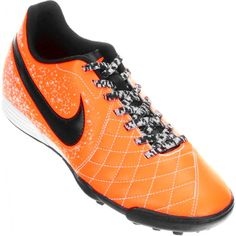 Chuteira Nike Flare 2 TF Society Masculina Laranja / Preta