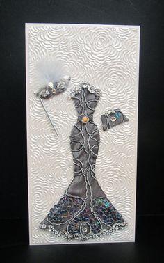 Miranda Masquerade Dress Personalized Card / DL Size / by BSylvar
