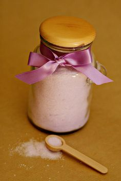 Lavender Bath Salts 1 by See Vanessa Craft, via Flickr  I made this for my mom last Christmas and it turned out great.   Tags: DIY, gift, lavender, bath
