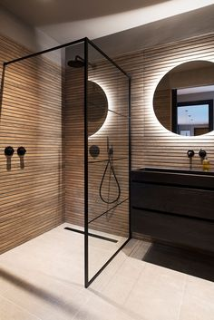 Cool, stylish and beautiful.after so many positive reactions. Beach House Bathroom, Bathroom Spa, Bathroom Interior, Style Tile, Porcelanosa Tiles, Bathroom Inspiration, Decoration, Sweet Home, New Homes