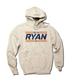 Nolan Ryan Officially Licensed Baseball Hall of Fame Houston Hoodie S-3XL Nolan Ryan Striped Font B