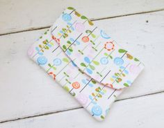 Fabric Wallet women's wallet women's gift idea velcro or snap closure ready to ship yellow wallet floral print cute accessory