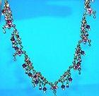 SIGNED MICHAL NEGRIN VINTAGE PURPLE CRYSTAL ViCTORIAN STYLE NECKLACE - Crystal, Michal, Necklace, Negrin, Purple, signed, Style, Victorian, Vintage - http://designerjewelrygalleria.com/michal-negrin/michal-negrin-necklaces/signed-michal-negrin-vintage-purple-crystal-victorian-style-necklace/