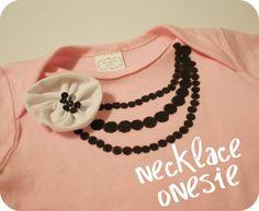 Live a Little Wilder: Necklace Onesie - tutorial